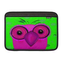 Purple Cartoon Owl d MacBook Air Sleeve