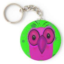 Purple Cartoon Owl Keychain