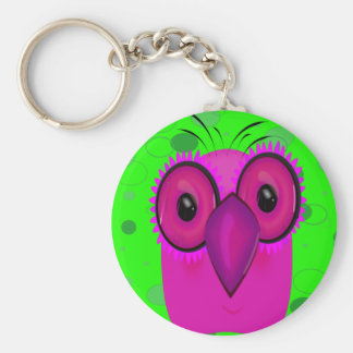 Purple Cartoon Owl Keychain
