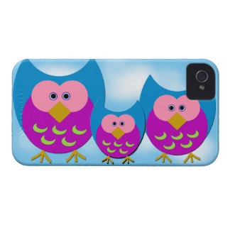 Purple Cartoon Owls iPhone 4 4S Case iPhone 4 Covers