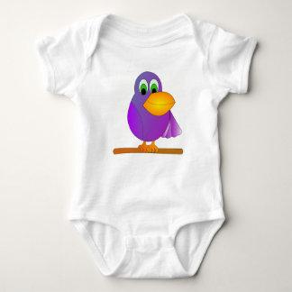 Purple Cartoon Parrot Shirt
