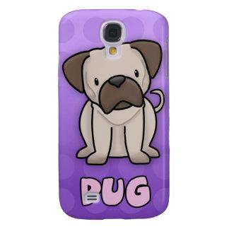 Purple Cartoon Pug Galaxy S4 Case