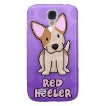 Purple Cartoon Red Heeler Galaxy S4 Covers