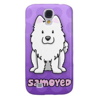 Purple Cartoon Samoyed Samsung Galaxy S4 Cases