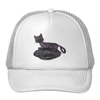 Purple Cartoon Style Cat Napping Hat