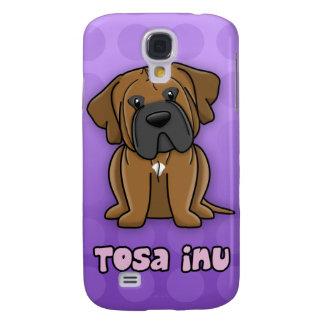 Purple Cartoon Tosa Inu Samsung Galaxy S4 Cover