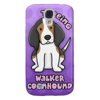 Purple Cartoon Treeing Walker Coonhound Galaxy S4 Covers