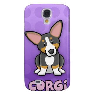 Purple Cartoon Tricolor Corgi iPhone 3 Case