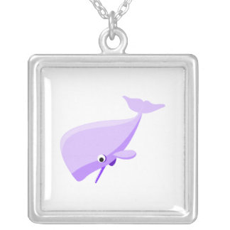 Purple Cartoon Whale Necklaces