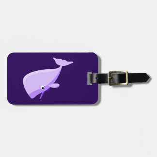 Purple Cartoon Whale Tag For Luggage