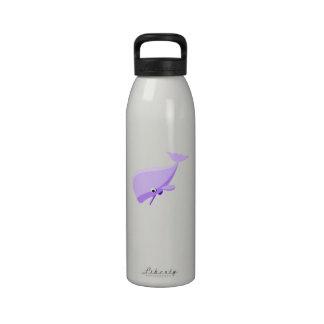 Purple Cartoon Whale Drinking Bottle