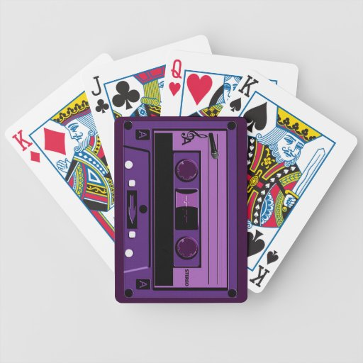 Purple Cassette Groove_ Bicycle Playing Cards