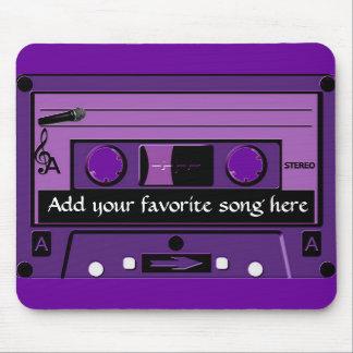 Purple Cassette Groove_ Mouse Pad