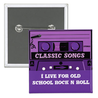 Purple Cassette Groove_ Pinback Button