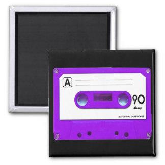 Purple Cassette Tape 2 Inch Square Magnet