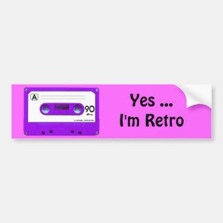 Purple Cassette Tape Bumper Sticker