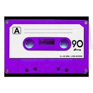 Purple Cassette Tape Card