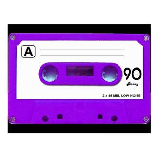 Purple Cassette Tape Postcard