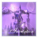 Purple Castle Tea Party Bridal Shower Invitation