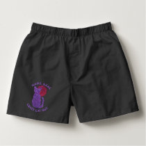 Purple Cat And The Moon Cat Lover Kitten Feline Boxers