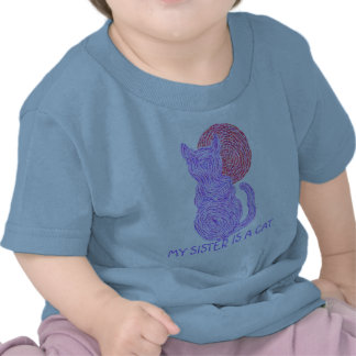 Purple Cat Colorful Cute My Sister Is A Cat Tee