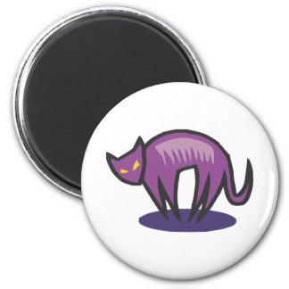 Purple Cat Demon 2 Inch Round Magnet