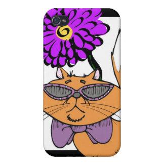 Purple Cat Dude Case For iPhone 4