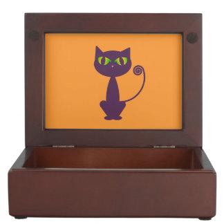 Purple Cat Keepsake Box