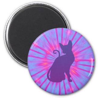 Purple Cat Magnet