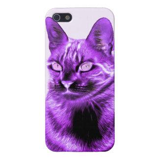 Purple cat negative iPhone SE/5/5s cover