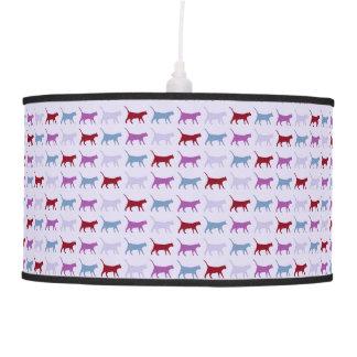 Purple Cat Pattern Pendant Lamp