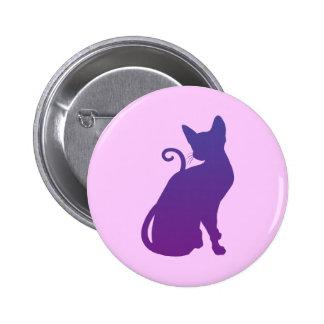 Purple Cat Pinback Button