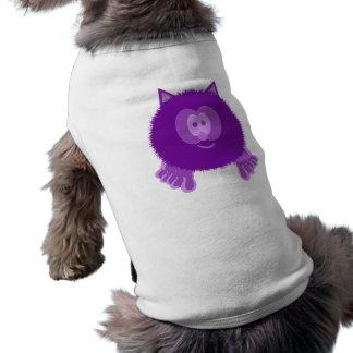 Purple Cat Pom Pom Pal Dog Tee