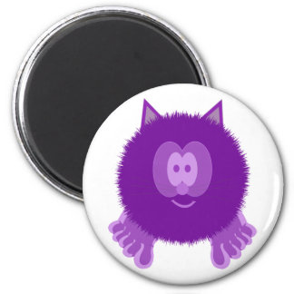 Purple Cat Pom Pom Pal Magnet