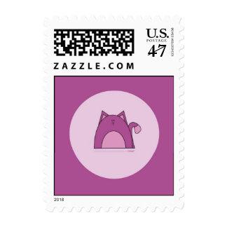 Purple Cat Postage Stamps - Rawr Purple Cat Stamp