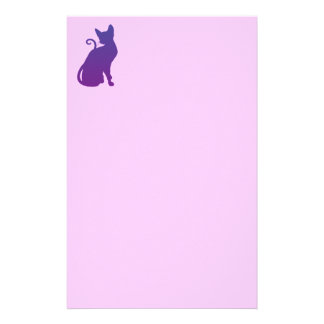 Purple Cat Stationery