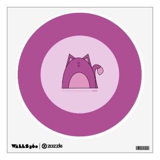 Purple Cat Wall Decal - Cute Purple Cat Decal