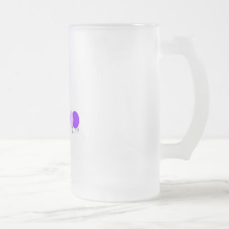 purple caterpillar frosted glass beer mug