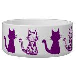 Purple Cats Large Pet Bowl