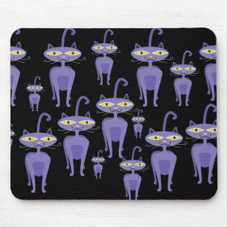 Purple Cats Mousepads