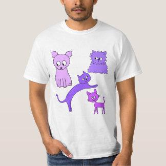 Purple Cats. T Shirt