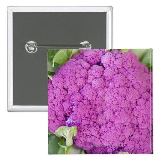 Purple cauliflower for sale pinback button