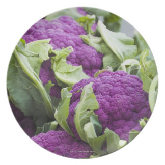 Purple cauliflower melamine plate