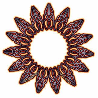 Purple Celtic Circle Knotwork Ornaments Cutout