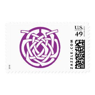 Purple Celtic Circle Postage Stamps