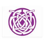Purple Celtic Circle Postcards