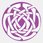 Purple Celtic Circle Round Sticker