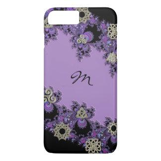 Purple Celtic Fractal Monogram iPhone 7 Plus Case
