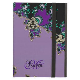 Purple Celtic Fractal Mystic Symbols iPad Air Covers
