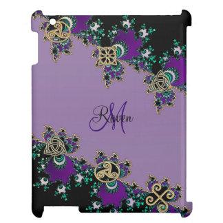 Purple Celtic Fractal Mystic Symbols Cover For The iPad